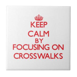 Guarde la calma centrándose en pasos de peatones azulejos ceramicos
