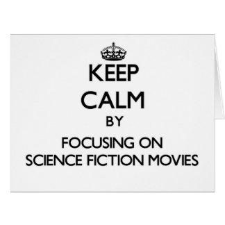 Guarde la calma centrándose en películas de la tarjeta de felicitación grande