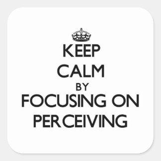 Guarde la calma centrándose en percibir colcomanias cuadradases