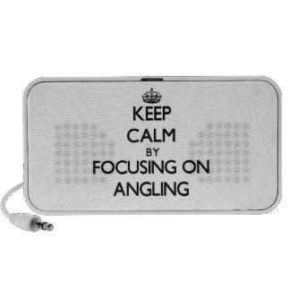 Guarde la calma centrándose en pescar con caña iPhone altavoz