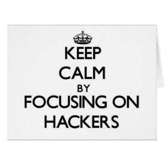 Guarde la calma centrándose en piratas informático