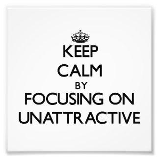 Guarde la calma centrándose en poco atractivo