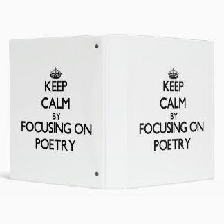 Guarde la calma centrándose en poesía