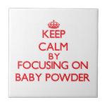 Guarde la calma centrándose en polvo de bebé azulejos ceramicos