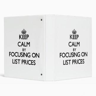 Guarde la calma centrándose en precios de catálogo