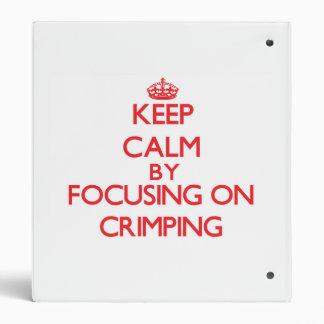 Guarde la calma centrándose en prensar