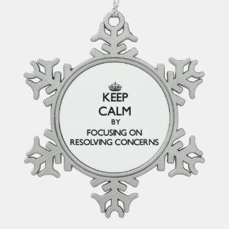 Guarde la calma centrándose en preocupaciones de r