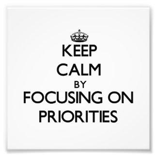 Guarde la calma centrándose en prioridades fotografía