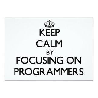 Guarde la calma centrándose en programadores invitaciones personales