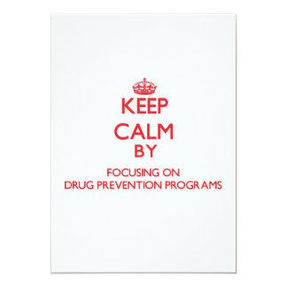 Guarde la calma centrándose en programas de la invitación 12,7 x 17,8 cm