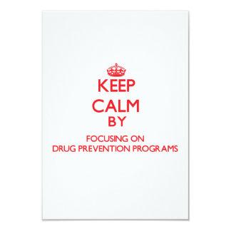Guarde la calma centrándose en programas de la invitación 8,9 x 12,7 cm
