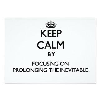 Guarde la calma centrándose en prolongar el invitacion personalizada