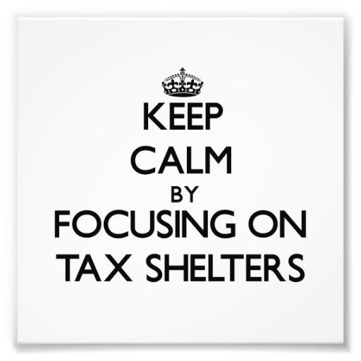 Guarde la calma centrándose en protecciones fiscal fotos