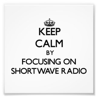 Guarde la calma centrándose en radio de la onda co fotografía