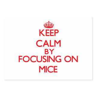 Guarde la calma centrándose en ratones tarjeta de negocio