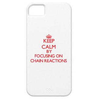 Guarde la calma centrándose en reacciones en iPhone 5 Case-Mate cárcasa