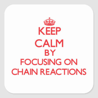 Guarde la calma centrándose en reacciones en calcomanías cuadradas