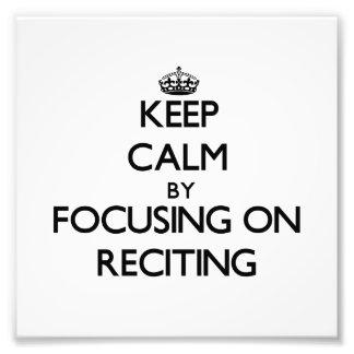 Guarde la calma centrándose en recitar fotografia