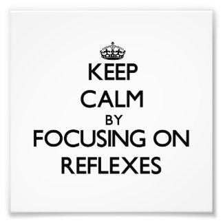 Guarde la calma centrándose en reflejos