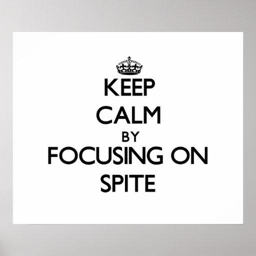 Guarde la calma centrándose en rencor impresiones