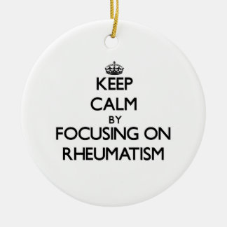 Guarde la calma centrándose en reumatismo