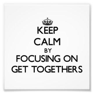 Guarde la calma centrándose en reuniones