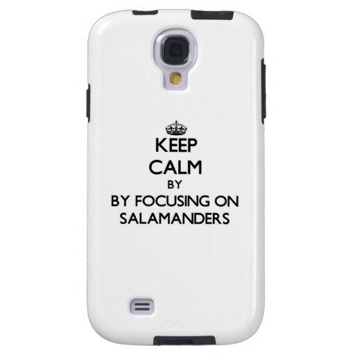 Guarde la calma centrándose en Salamanders Funda Para Galaxy S4