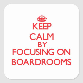 Guarde la calma centrándose en salas de reunión etiqueta