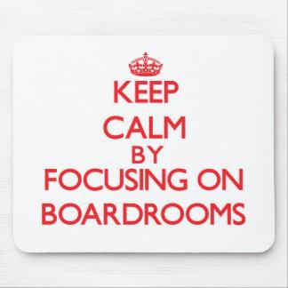 Guarde la calma centrándose en salas de reunión tapetes de raton