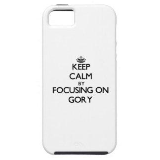 Guarde la calma centrándose en sangriento iPhone 5 carcasa