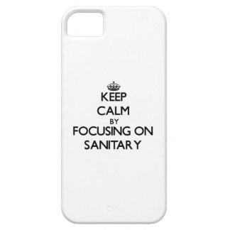 Guarde la calma centrándose en sanitario iPhone 5 Case-Mate funda