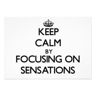 Guarde la calma centrándose en sensaciones