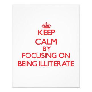 Guarde la calma centrándose en ser analfabeto tarjetones