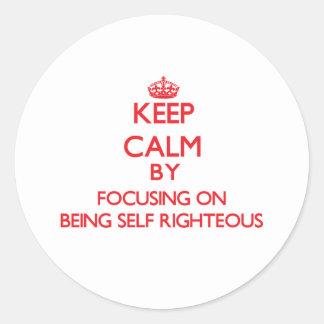 Guarde la calma centrándose en ser autosuficiente pegatinas