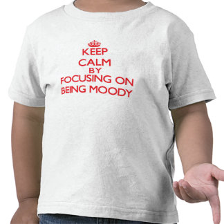Guarde la calma centrándose en ser cambiante camiseta