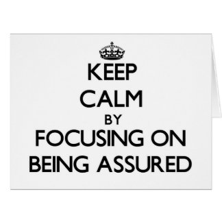 Guarde la calma centrándose en ser confiado