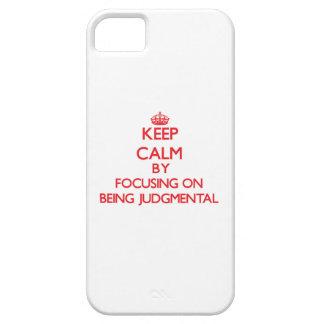 Guarde la calma centrándose en ser crítico iPhone 5 Case-Mate protectores