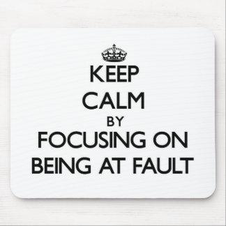 Guarde la calma centrándose en ser culpable
