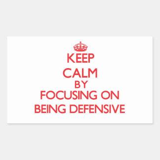 Guarde la calma centrándose en ser defensivo rectangular altavoz