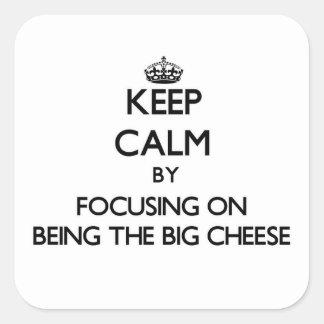 Guarde la calma centrándose en ser el queso grande colcomania cuadrada