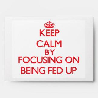 Guarde la calma centrándose en ser FED para arriba