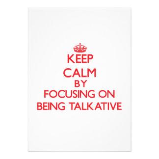 Guarde la calma centrándose en ser hablador comunicado personal