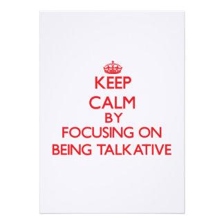 Guarde la calma centrándose en ser hablador invitación