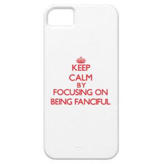Guarde la calma centrándose en ser imaginario iPhone 5 protectores