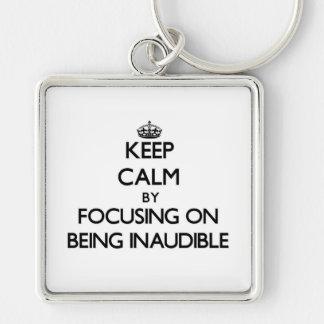 Guarde la calma centrándose en ser inaudible llaveros