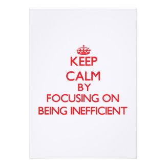 Guarde la calma centrándose en ser ineficaz comunicado