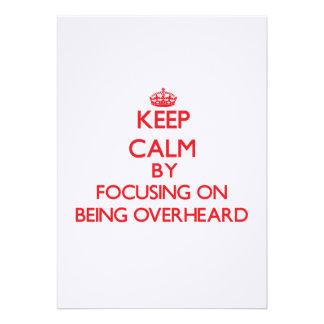 Guarde la calma centrándose en ser oído por comunicado personal