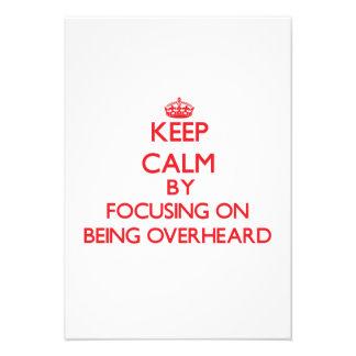 Guarde la calma centrándose en ser oído por comunicados personales