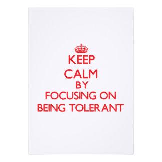 Guarde la calma centrándose en ser tolerante comunicado personal