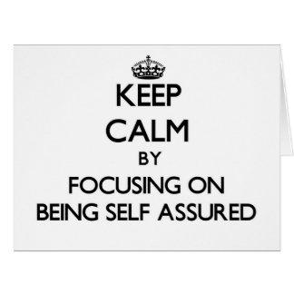 Guarde la calma centrándose en ser Uno mismo-Confi